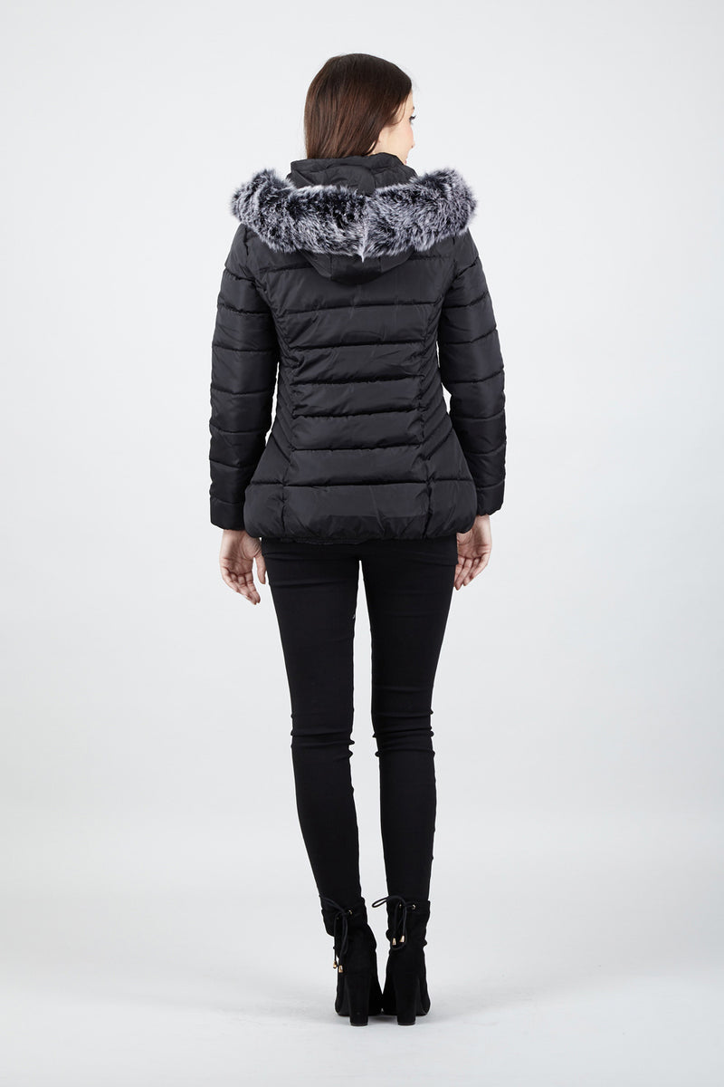 Black | Hooded Padded Coat