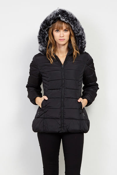 Padded Puffer Coat - Izabel London