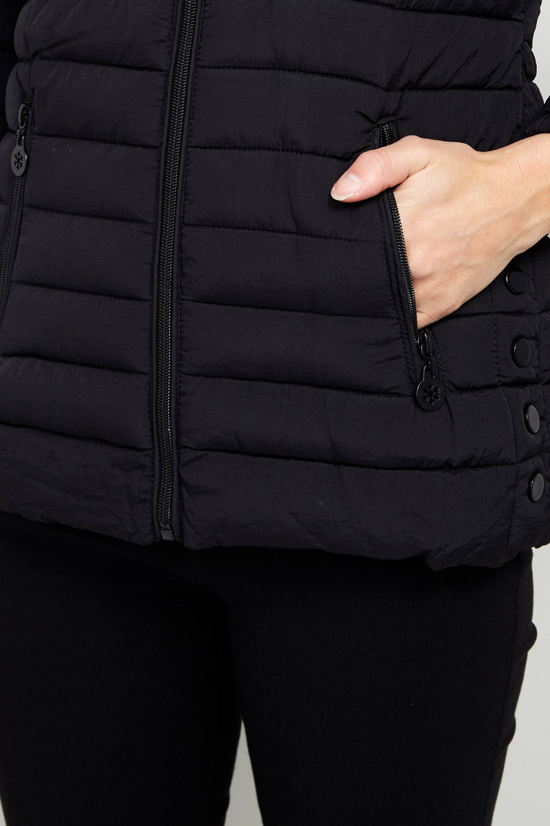 Padded Short Puffer Coat - Izabel London