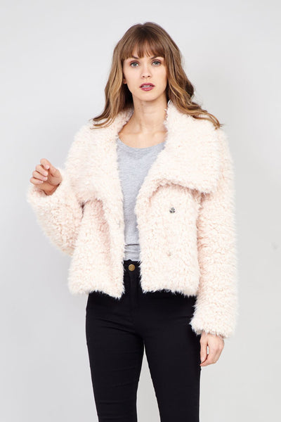 Cream | Teddy Fur Oversized Jacket
