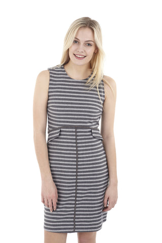 Striped Faux Split Dress