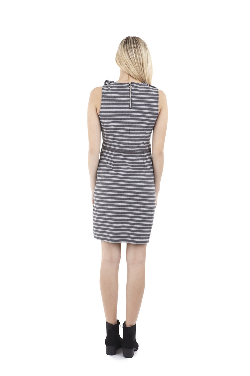 | Striped Faux Split Dress | Izabel London