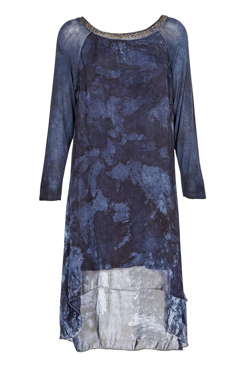 Tie Dye Comfort Dress - Izabel London