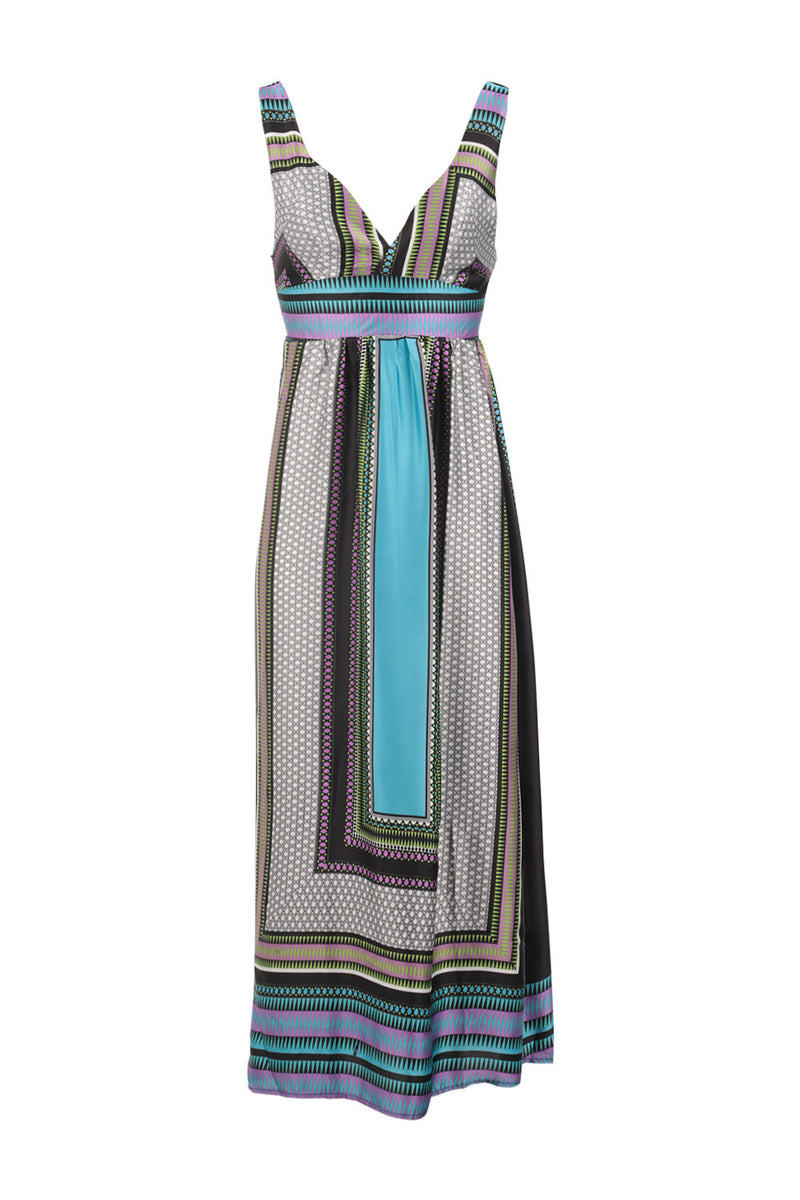 d272538a768 Tile Print Maxi Dress - Izabel London