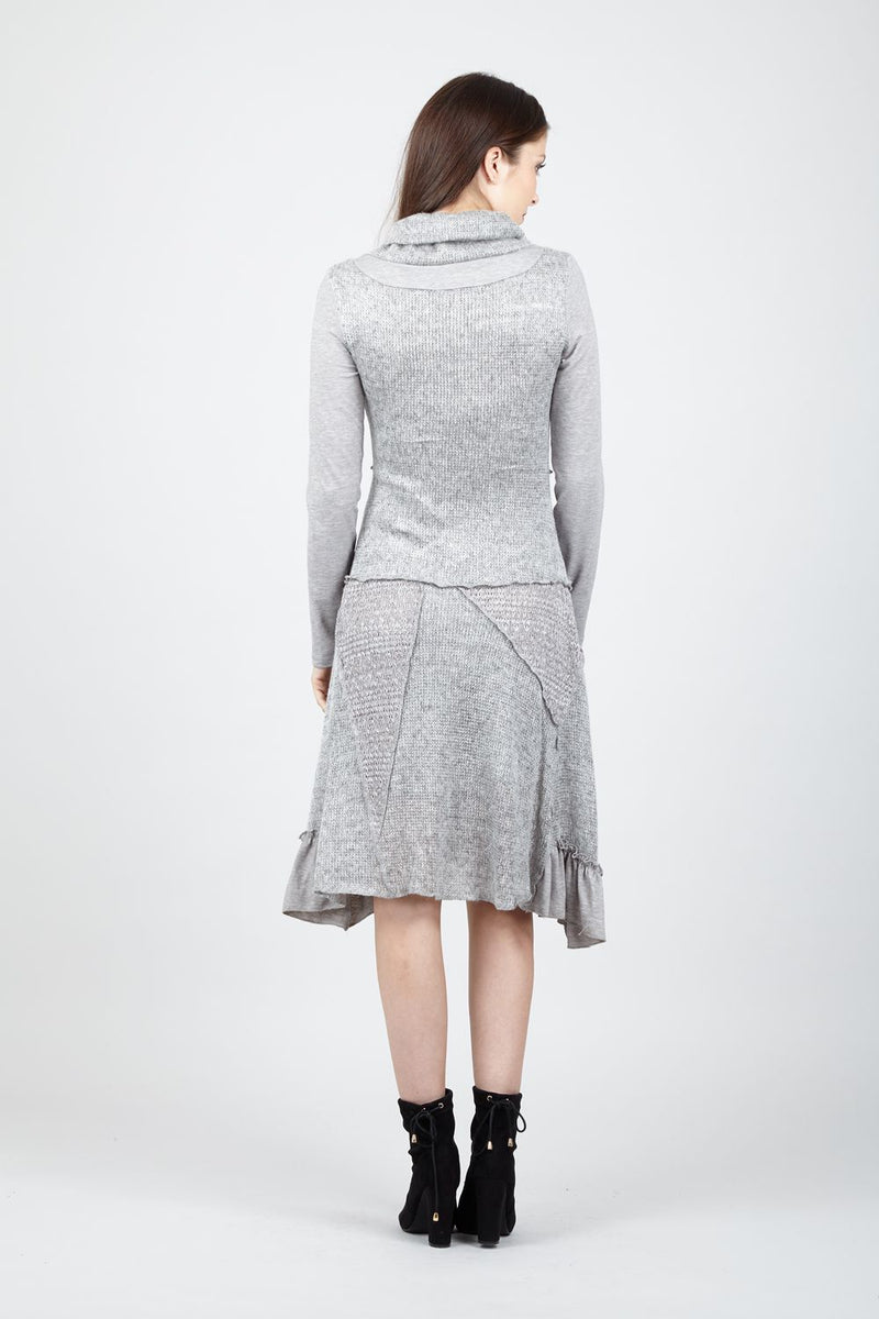 Grey | Ruched Knitted Dress