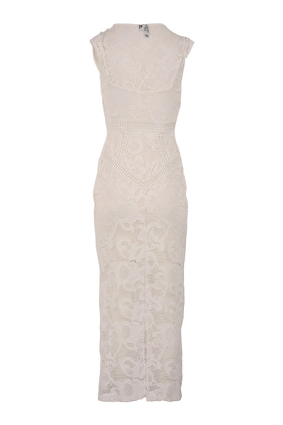 Sleeveless Lace Maxi Dress - Izabel London