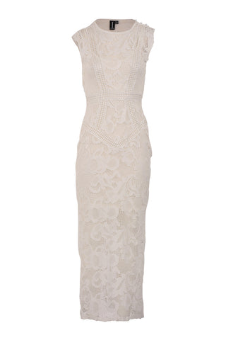 Lace Insert Pencil Dress