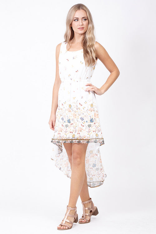 Floral Dip Hem Dress