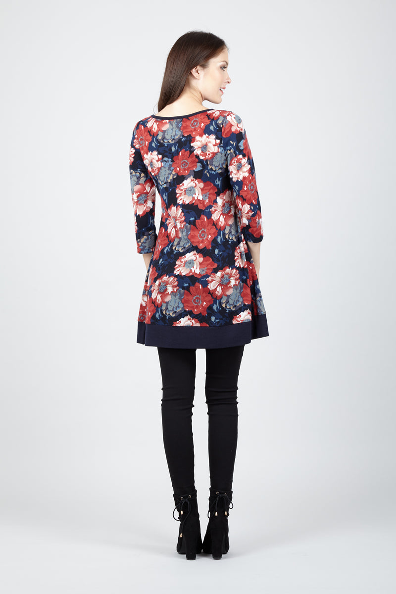 Floral Tunic Dress - Izabel London