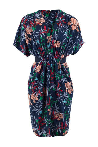 Floral Layered Hem Midi Dress