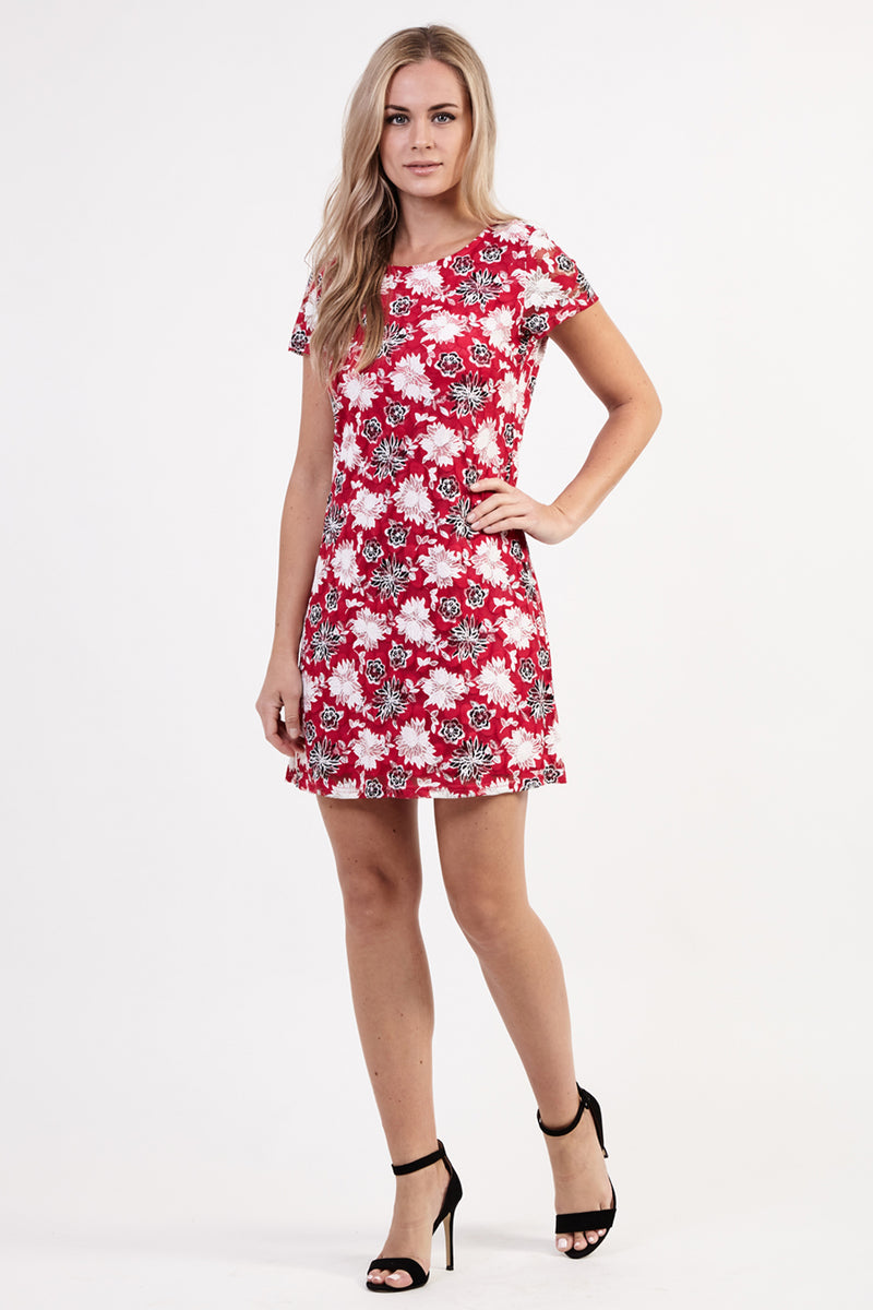 Pink | Floral Tea Dress | Izabel London