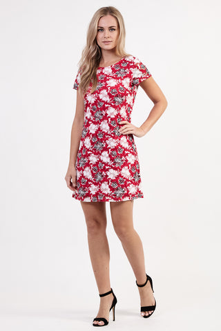Floral Flare Sleeve Dress