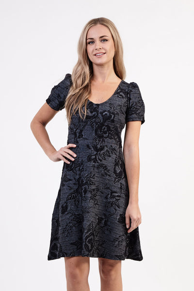 Damask Tea Dress - Izabel London