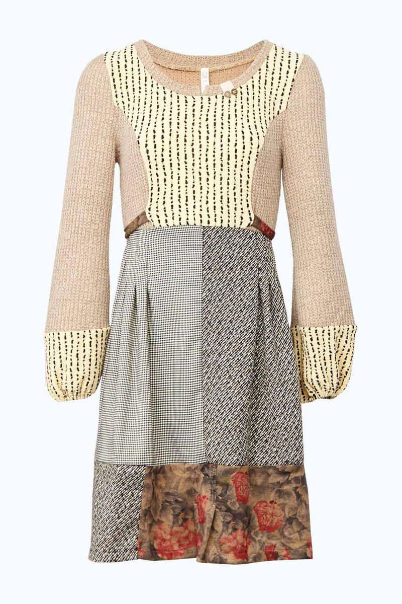 Beige | Knitted 2 in 1 Dress