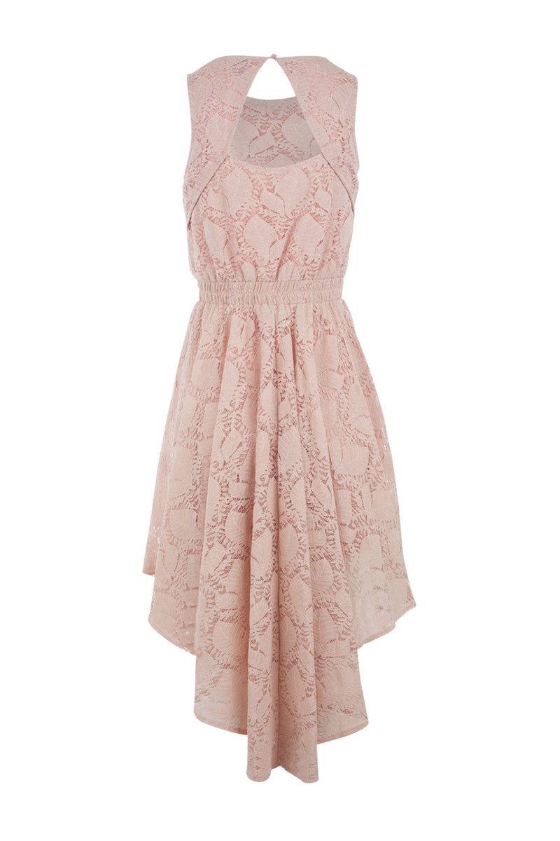 Lace Drop Hem Dress - Izabel London