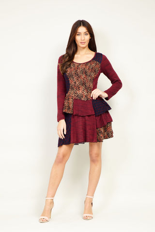 Mesh Overlay Sweetheart Dress