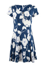 Zip Front Floral Print Dress - Izabel London