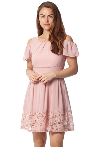 Patchwork Frill Hem Dress