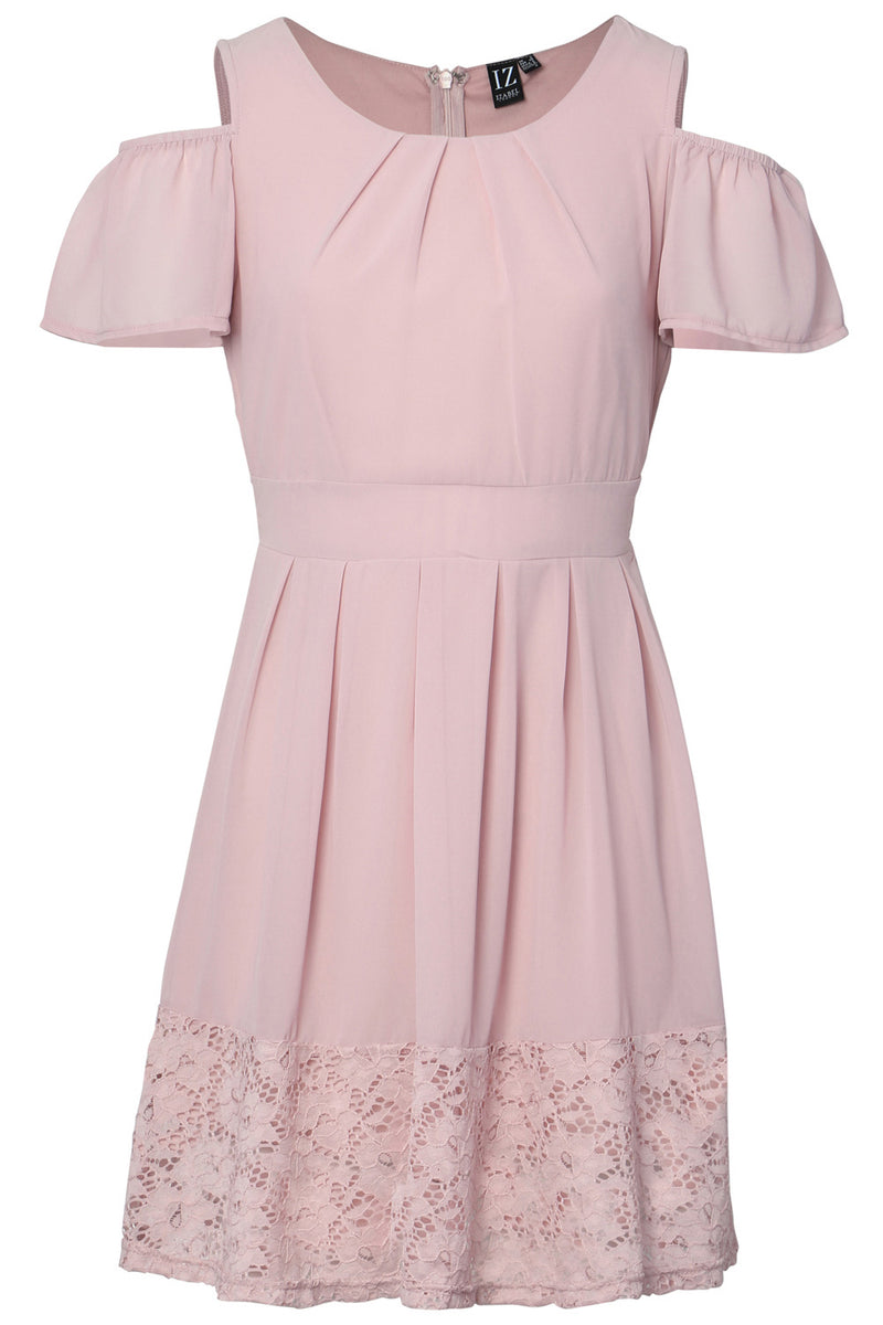Pink | Cold Shoulder Tea Dress
