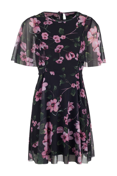 Floral Chiffon Tea Dress - Izabel London