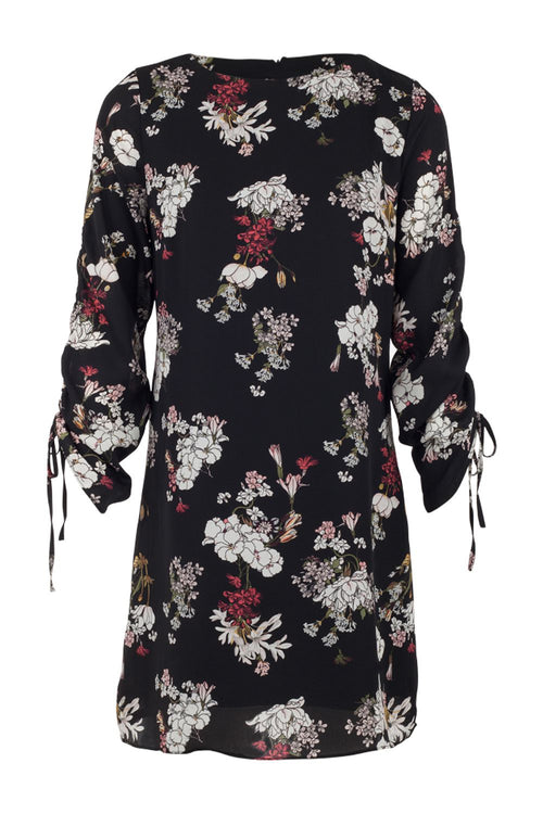 Floral Ruched Shift Dress - Izabel London