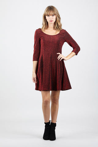 Curve Lace Skater Dress