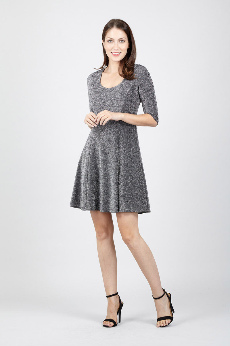 0f660fdaa1cf Scoop Neck Skater Dress - Izabel London