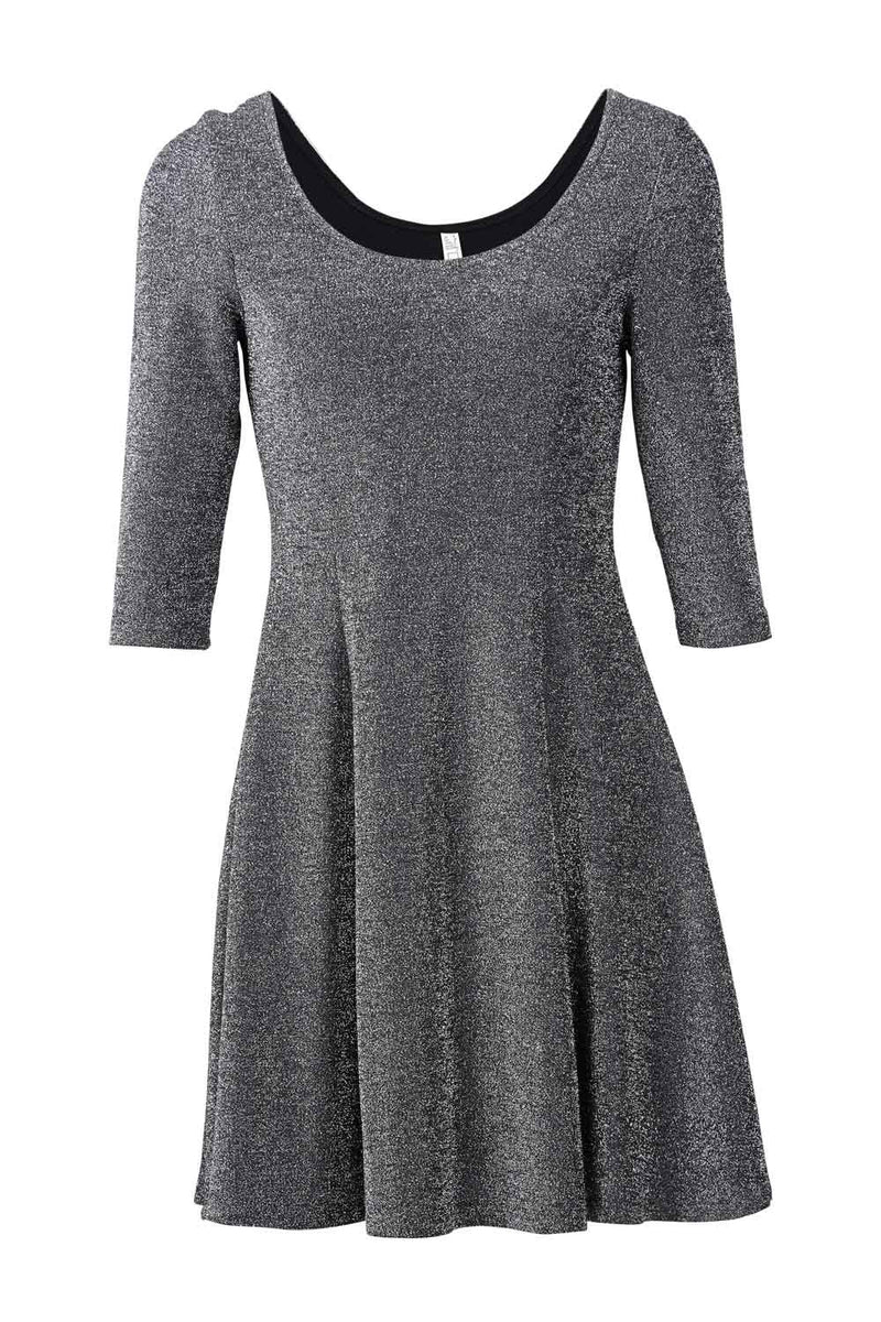 Scoop Neck Skater Dress - Izabel London