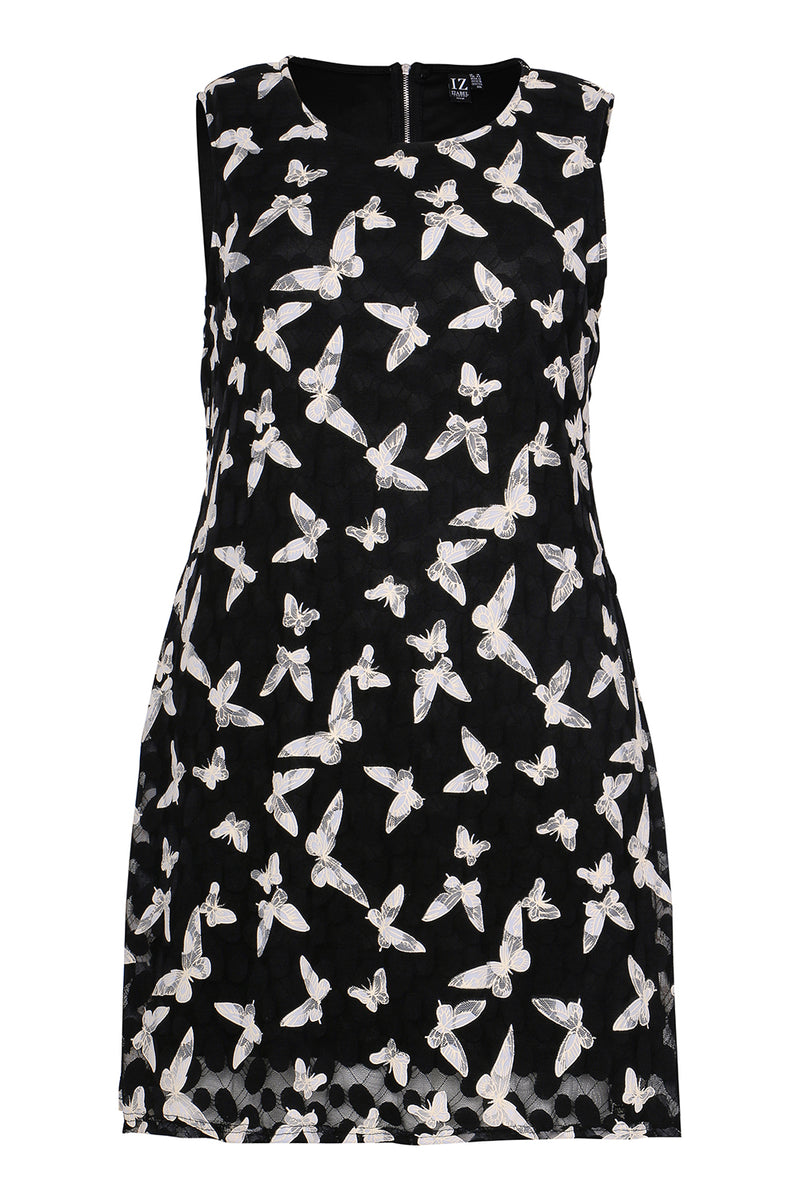 Curve Butterfly Dress - Izabel London