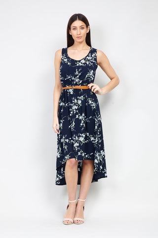Floral Wrap Front Fit & Flare Dress