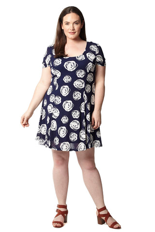 Curve Peacock Skater Dress