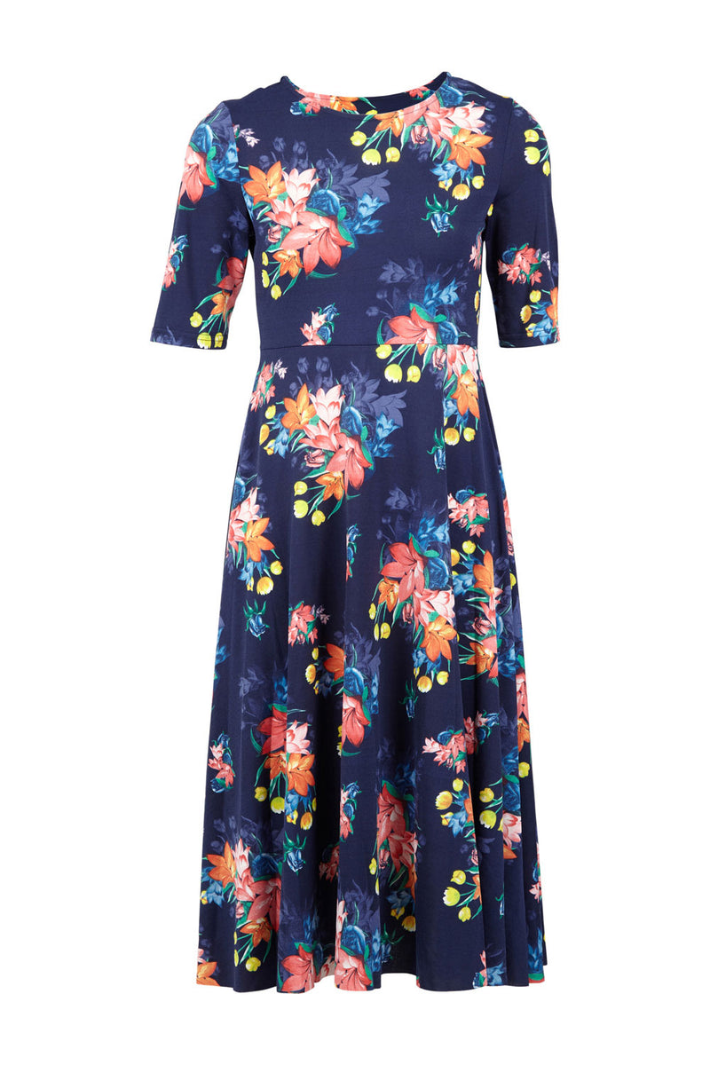 Floral Midi Dress - Izabel London