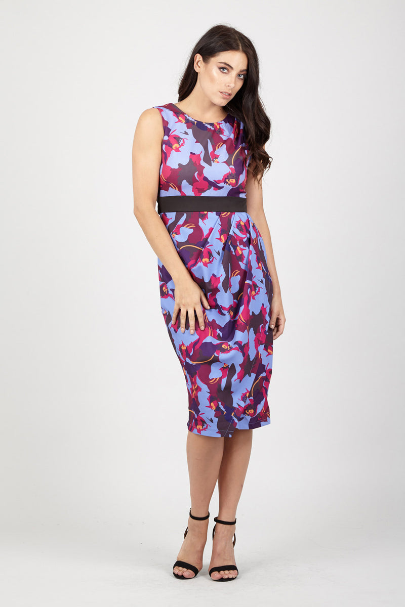 Purple | Floral Bodycon Dress