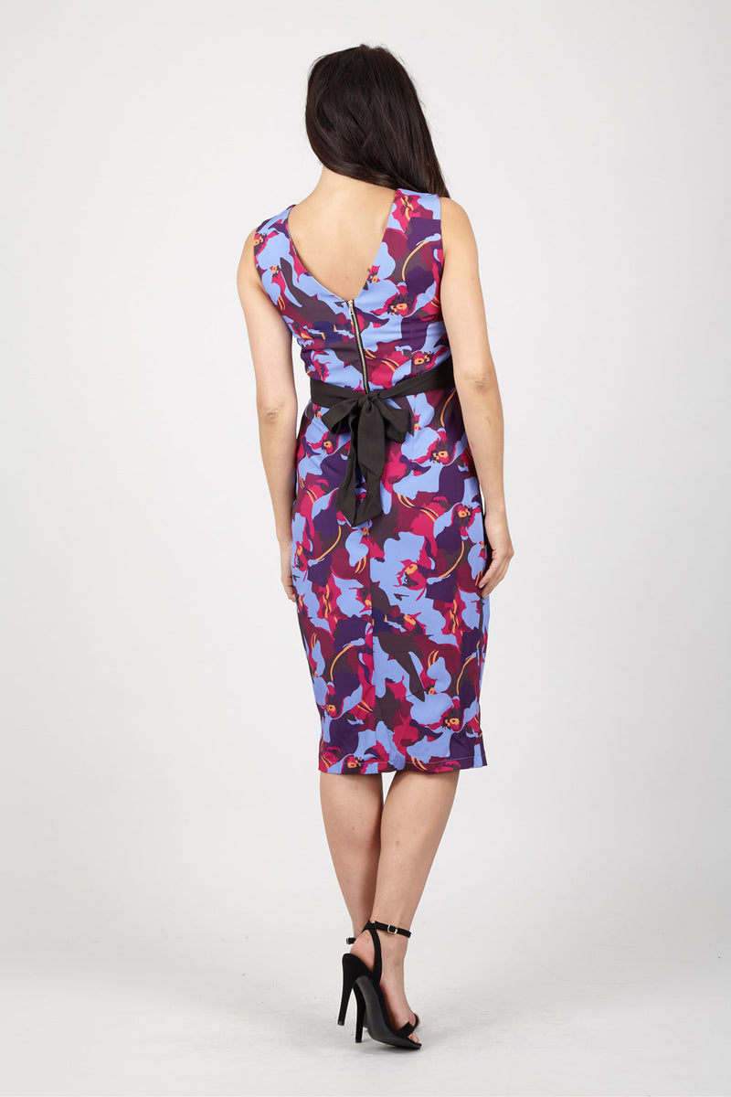 Floral Bodycon Dress - Izabel London