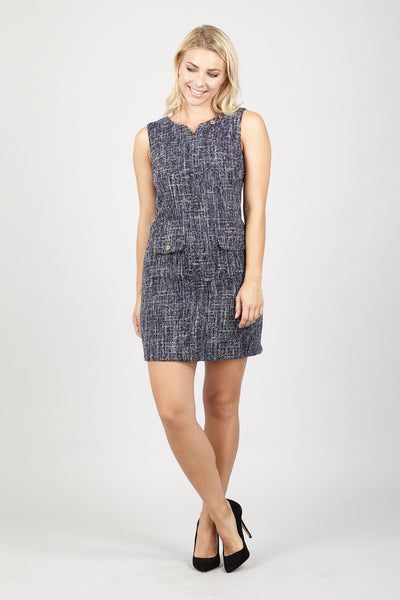 Tweed Shift Dress - Izabel London
