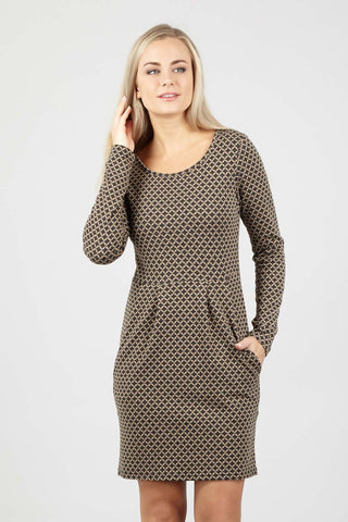 Curve Checked Swing Dress