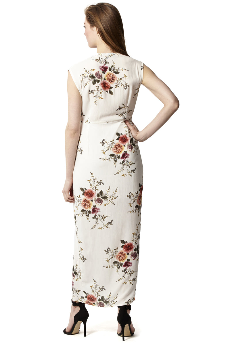 V-Neck Floral Maxi Dress - Izabel London