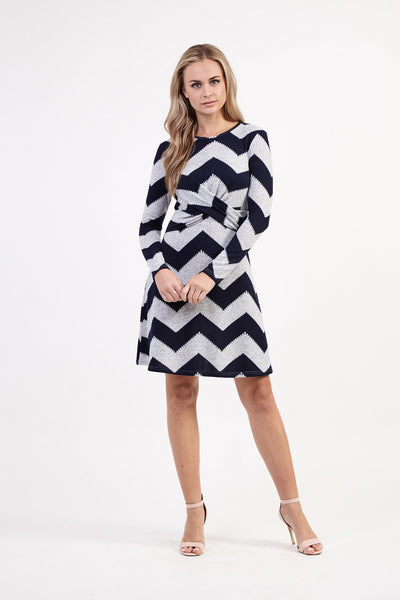 Aztec Stripe Dress - Izabel London