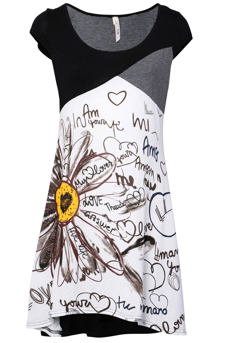 Black | Sun Graffiti Dress