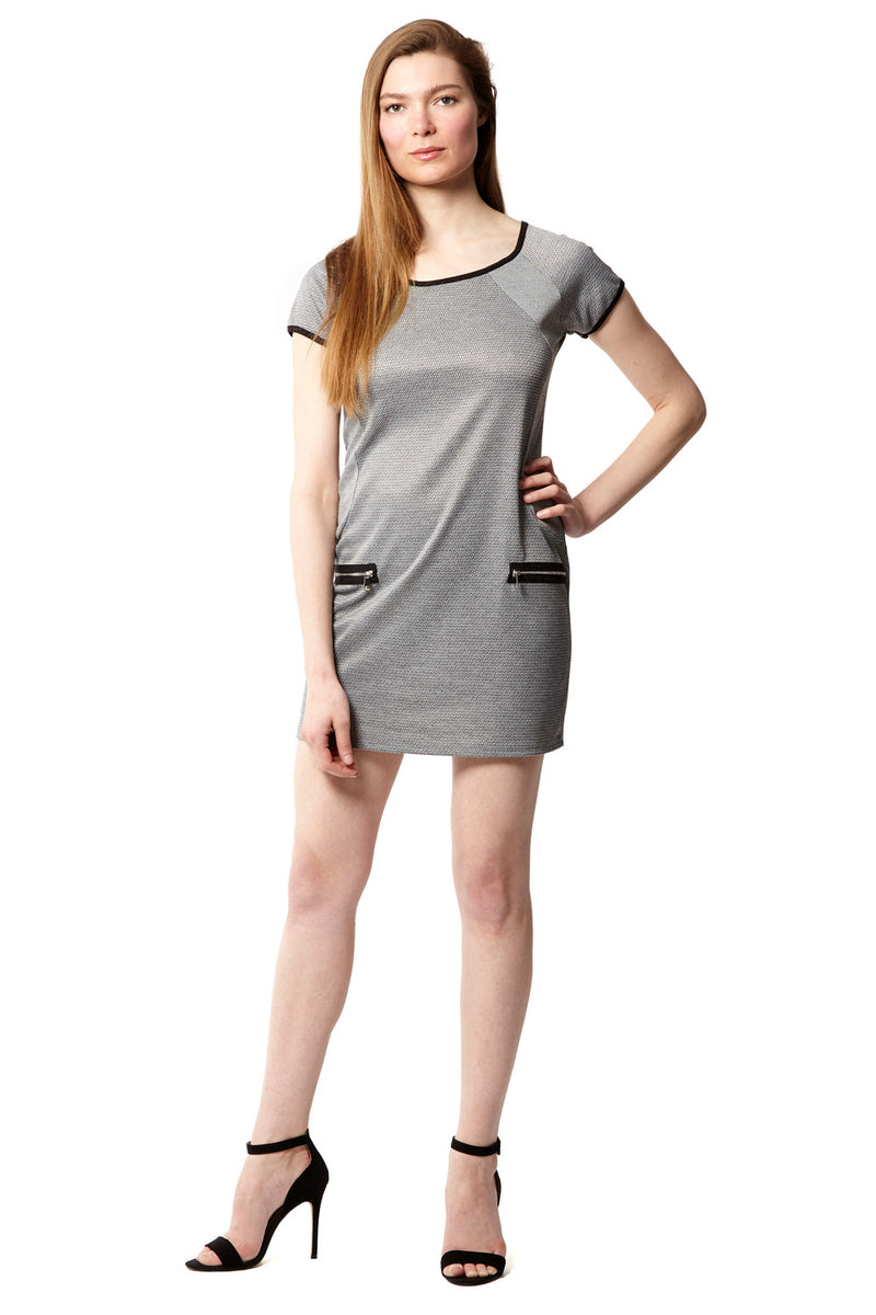 Contrasting Hem Shift Dress - Izabel London