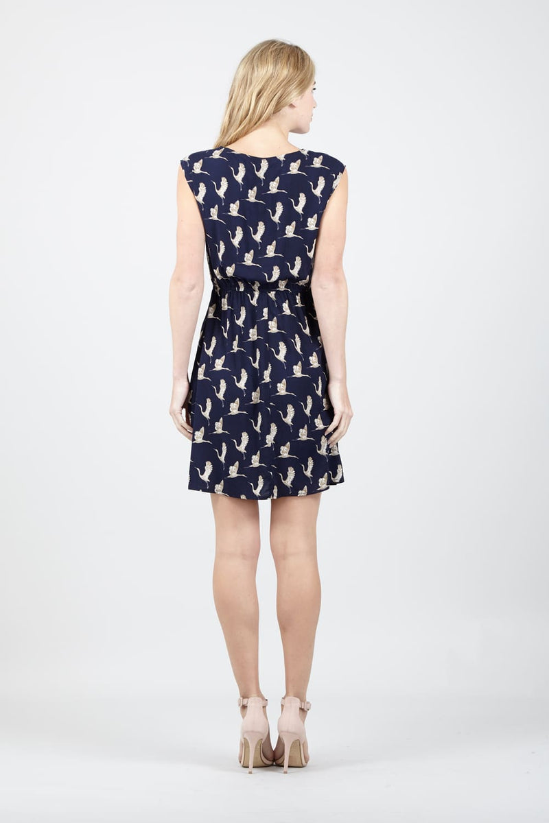 | Bird Print Tea Dress | Izabel London