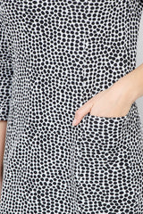Black And White | Polka Dot Print Shift Dress