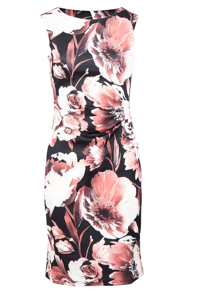 | Floral Scuba Midi Dress | Izabel London