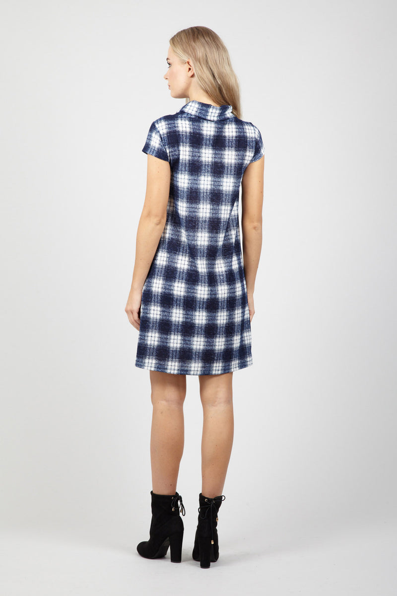 Checked Tunic Dress - Izabel London