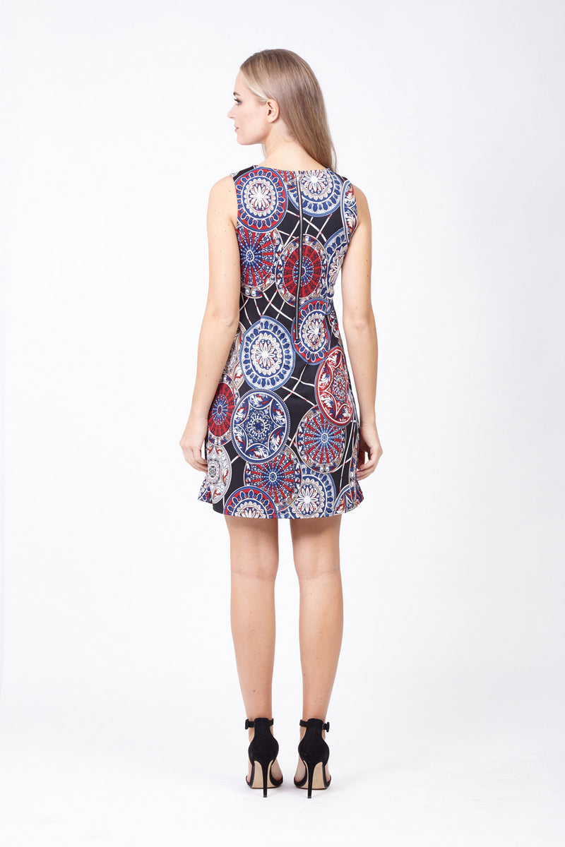 Mosaic Shift Dress - Izabel London