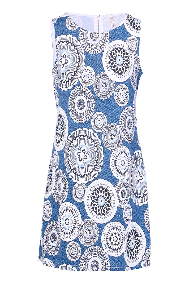 Blue | Abstract Shift Dress