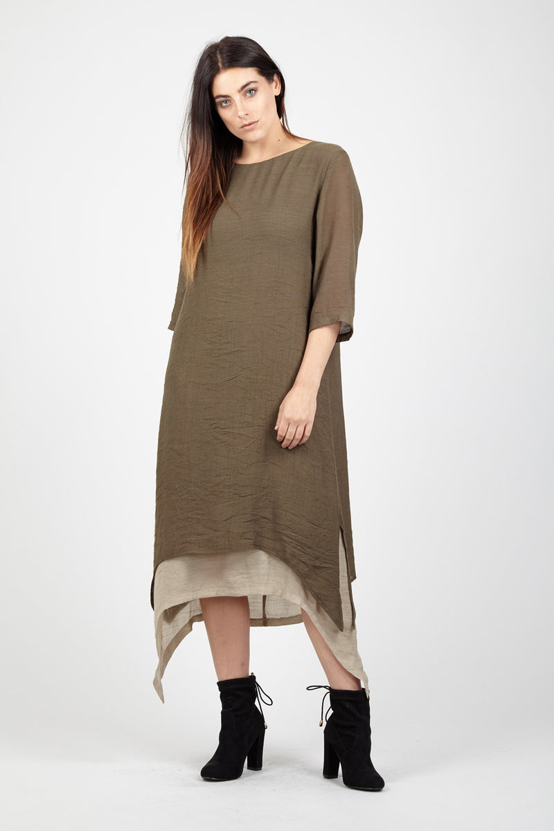 Layered Midi Dress - Izabel London