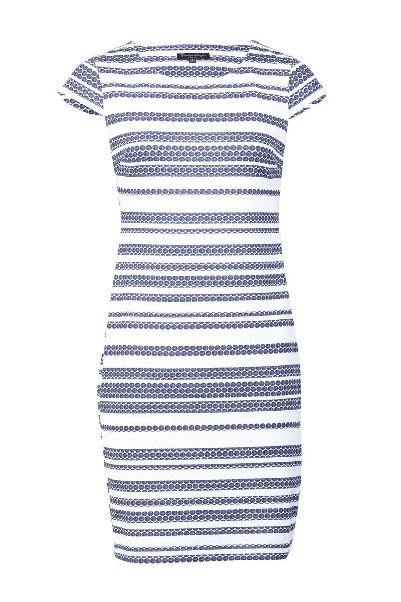 Navy | Striped Bodycon Dress