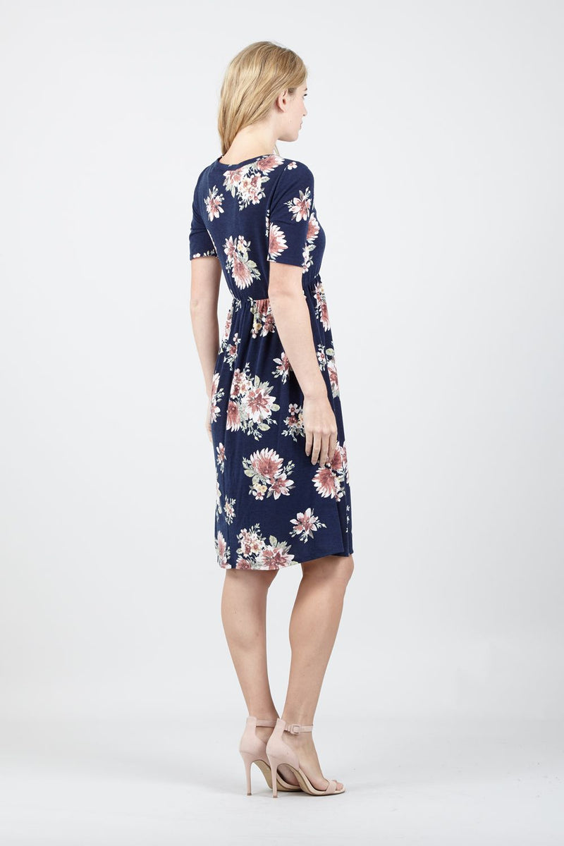 | Floral Fit & Flare Dress | Izabel London