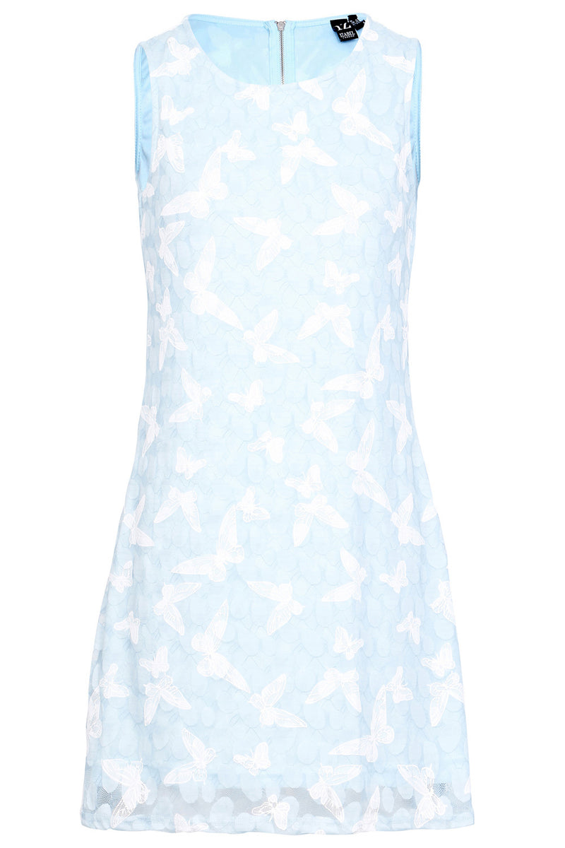Blue | Butterfly Shift Dress